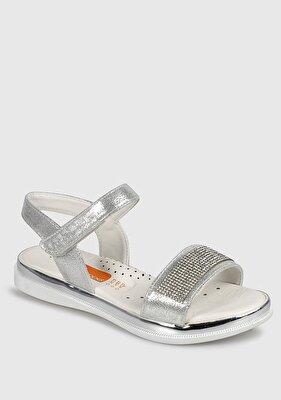 Resim Beyaz Kız Çocuk Düz Sandalet