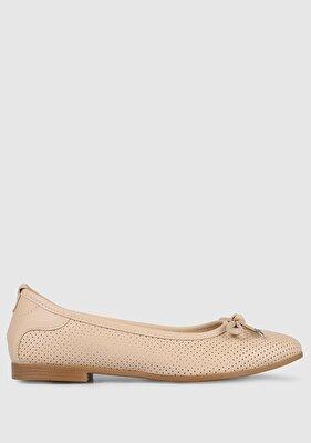 Resim Bej Kadın Makosen Ayakkabı