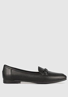 Resim Siyah Kadın Makosen Ayakkabı