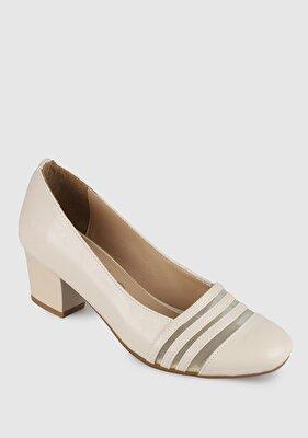 Resim Bej Kadın Topuklu Ayakkabı