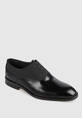 Resim Siyah Deri Erkek Klasik Ayakkabı