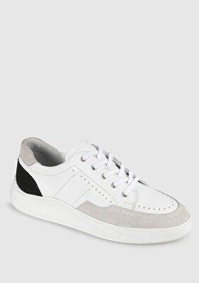 Resim Beyaz Deri Erkek Sneaker