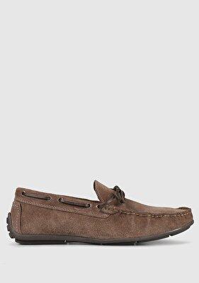Resim Vizon Deri Erkek Loafer Ayakkabı