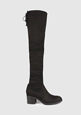 Resim Siyah Kadın Topuklu Çizme