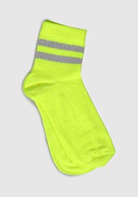 Resim Sarı Kadın Çorap