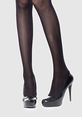 Resim Siyah Kadın Külotlu Çorap