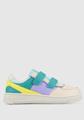 Resim Yeşil-Bej Kadın Sneaker