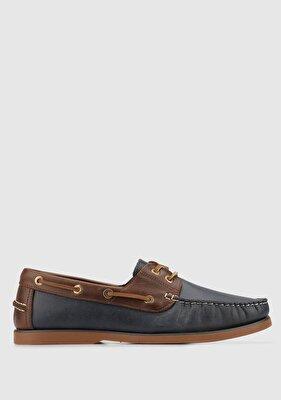 Resim Lacivert-Kahve Erkek Ayakkabı