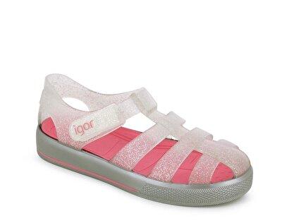 Resim Gri Kız Çocuk Düz Sandalet