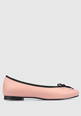Resim Pudra-Siyah Kadın Ayakkabı
