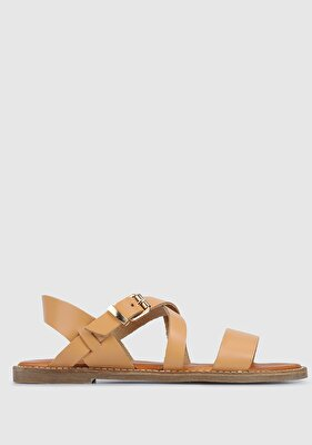 Resim Camel Kadın Düz Sandalet