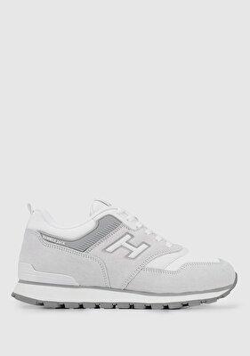 Resim Beyaz-Gri Kadın Sneaker