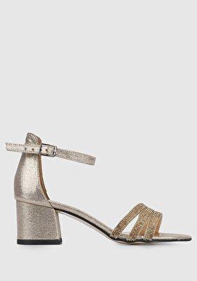Resim Altın Kadın Topuklu Sandalet