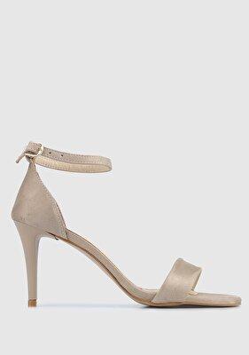 Resim Bej Kadın Topuklu Sandalet