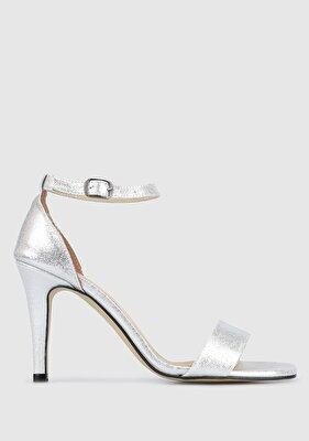 Resim Gümüş Kadın Topuklu Sandalet