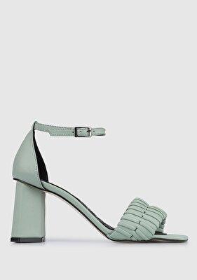 Resim Yeşil Kadın Topuklu Sandalet