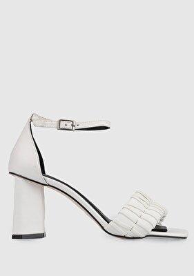 Resim Kırık Beyaz Kadın Topuklu Sandalet