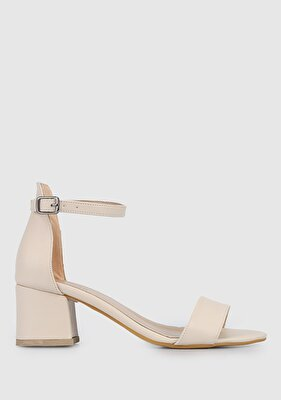 Resim Ten Rengi Kadın Topuklu Sandalet