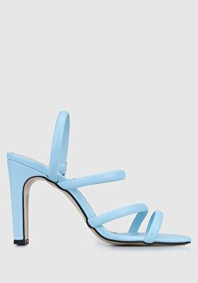 Resim Bebe Mavisi Kadın Topuklu Sandalet