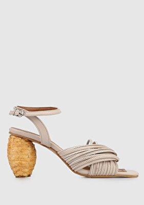Resim Nude Kadın Topuklu Sandalet