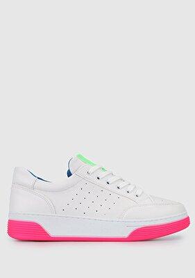 Resim Beyaz-Fusya Kadın Ayakkabı