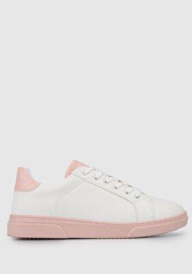 Resim Beyaz-Pudra Kadın Ayakkabı