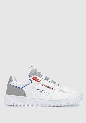 Resim Beyaz-Kırmızı Erkek Sneaker