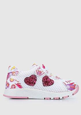 Resim Beyaz Kız Çocuk Sneaker