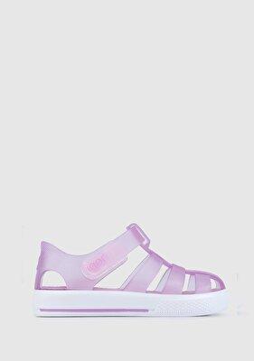 Resim Lila Kız Çocuk Plaj Ayakkabısı