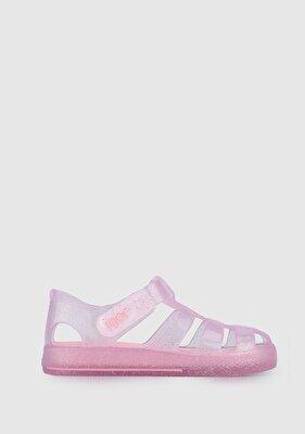 Resim Pembe Kız Çocuk Plaj Ayakkabısı