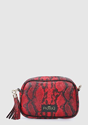 Resim Kırmızı Kadın Çapraz Çanta