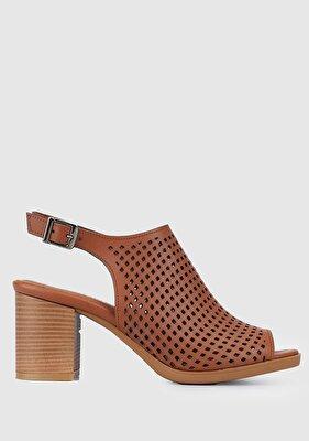 Resim Taba Kadın Düz Sandalet