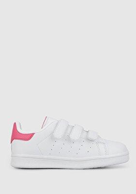 Resim Beyaz-Fusya Kız Çocuk Ayakkabı