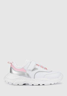 Resim Beyaz-Pembe Kız Çocuk Ayakkabı