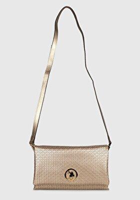 Resim Altın Kadın Çapraz Çanta