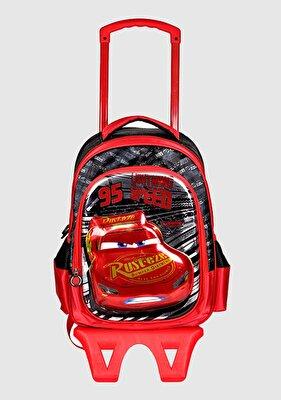 Resim Kırmızı Erkek Çocuk Çekçekli Çanta