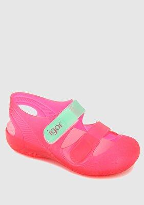 Resim Pembe Kız Çocuk Düz Sandalet