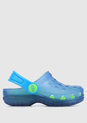 Resim Mavi Erkek Çocuk Düz Sandalet