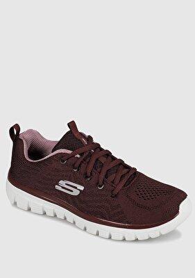 Resim Graceful-Get Connected Bordo Kadın Sneaker 12615Wı