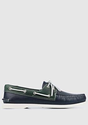 Resim Lacivert Erkek Tekne Ayakkabısı