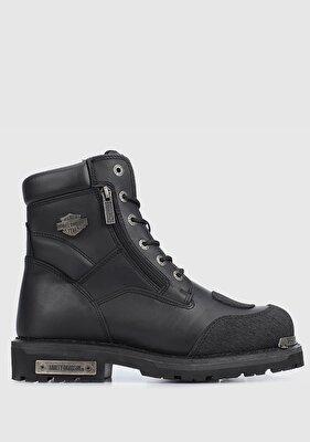 Resim Renshaw Siyah Yağlı Deri Erkek Asker Botu CMM0600A