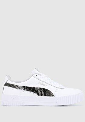 Resim Carina L Snake Fs Puma White-Gray Violet Beyaz Kad