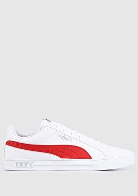 Resim Smash Vulc V3 Lo Puma White-High Ri Beyaz Erkek Sneaker 38075204
