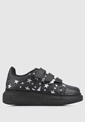 Resim Siyah Kız Çocuk Sneaker