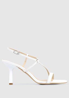 Resim Beyaz Kadın Topuklu Sandalet