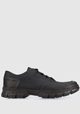 Resim Siyah Deri Erkek Ayakkabı