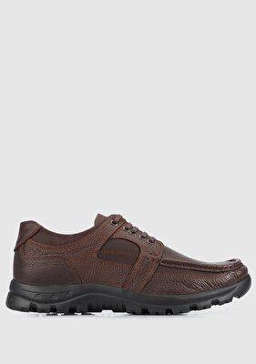 Resim Kahve Deri Erkek Ayakkabı