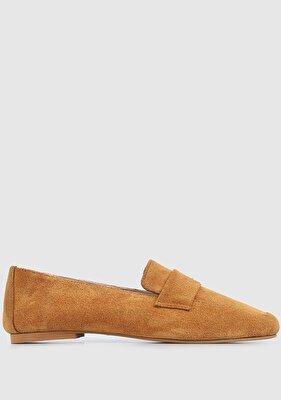 Resim Taba Deri Kadın Ayakkabı