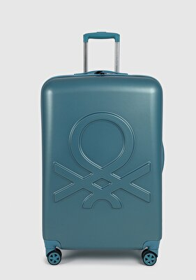 Resim Metalik-Mavi  Sert Valiz